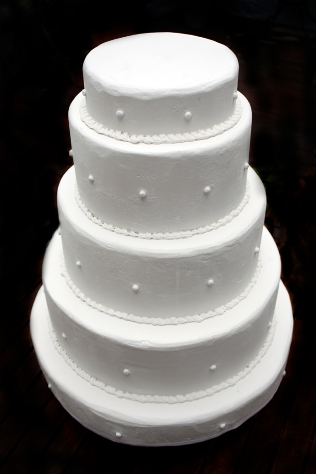 faux wedding cake
