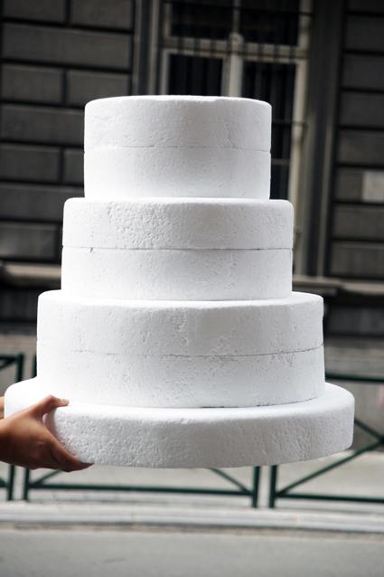 Gâteau en frigolite