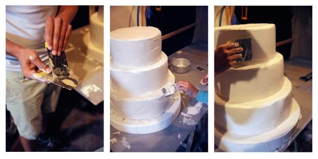 Platre sur gâteau